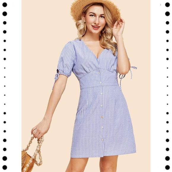 c55d7509cd NWOT SHEIN Light Blue Pinstripe Dress. M_5b5e3ef55bbb806bb8ba96ae